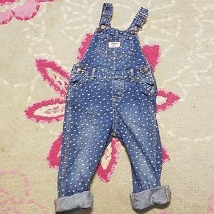 Osh Kosh B'gosh heart print overalls